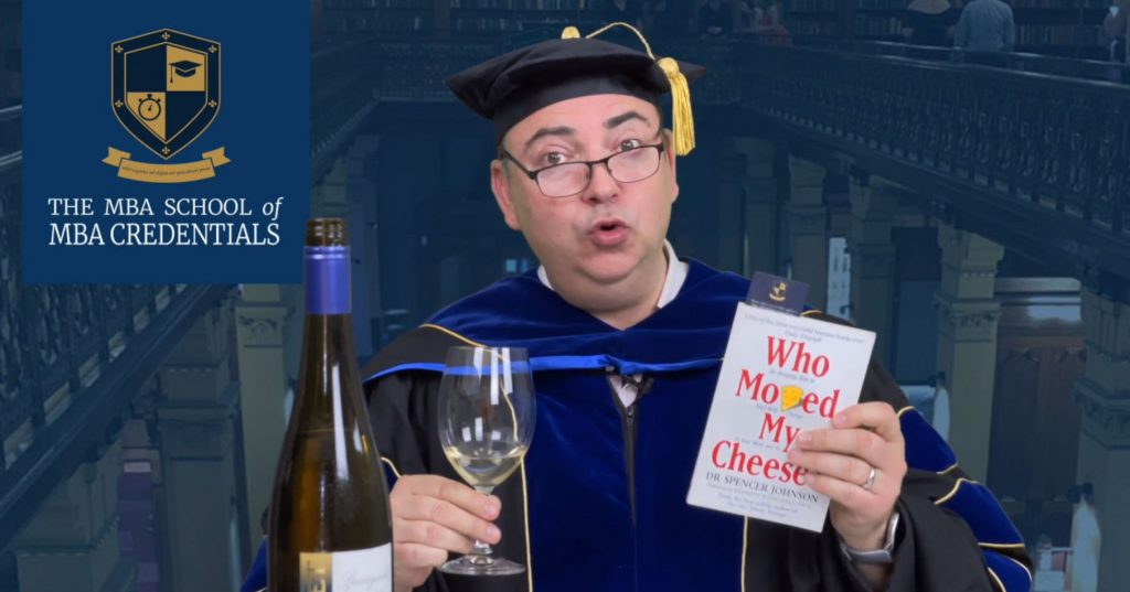 Wine and Book Pairing - Who Moved My Cheese? by Dr Spencer Johnson